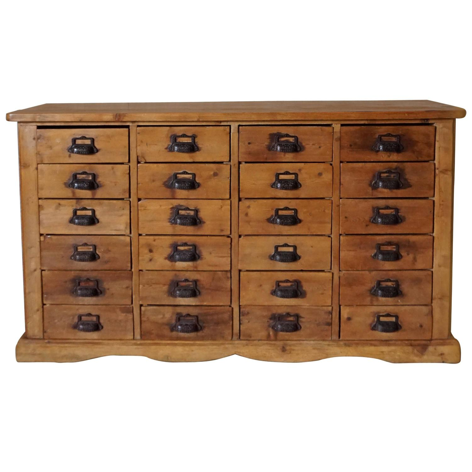 Antique Pine Apothecary Cabinet 1900s At 1stdibs