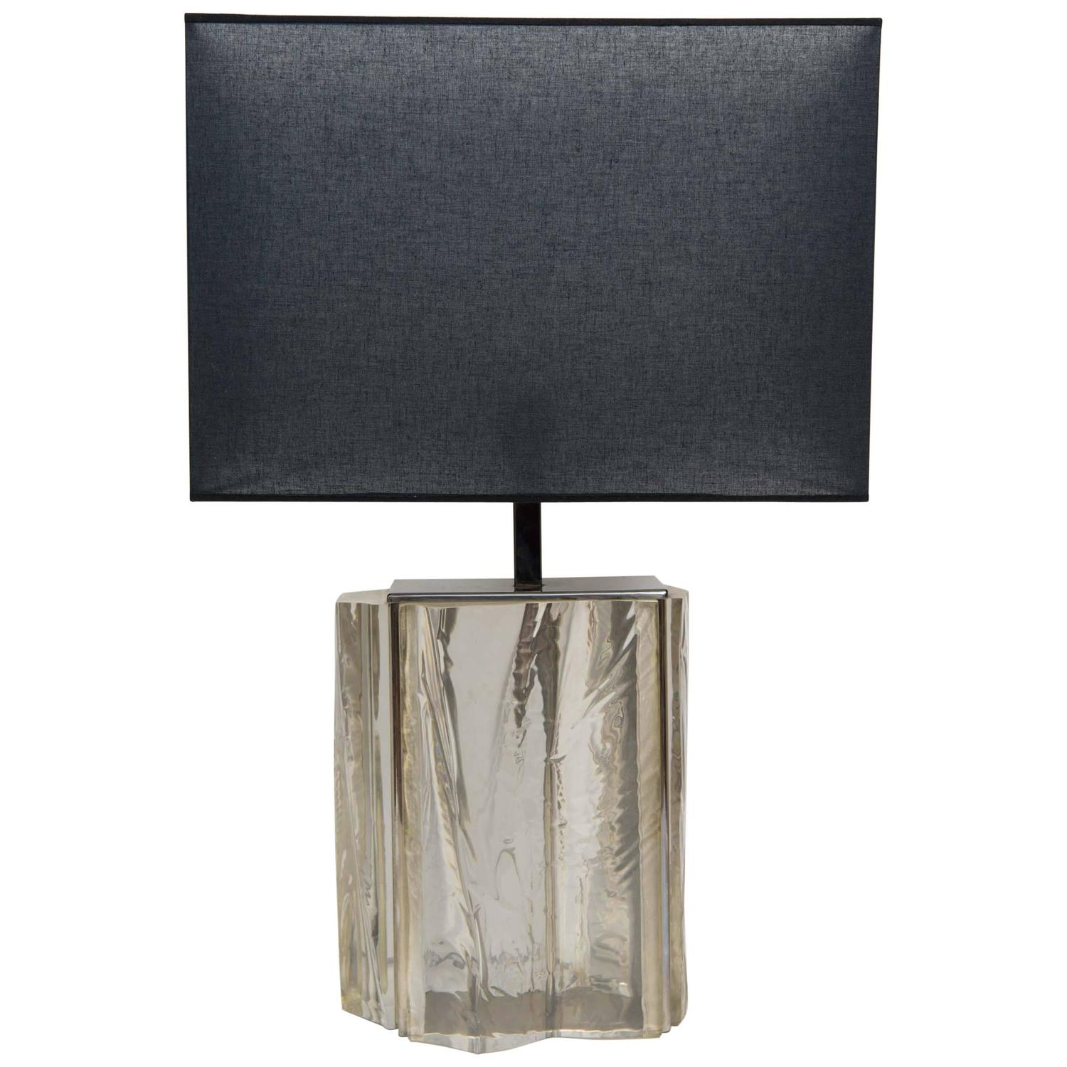 nice asymmetric french lucite lamp for sale at 1stdibs plafonier nice lamps costa 1 bonami