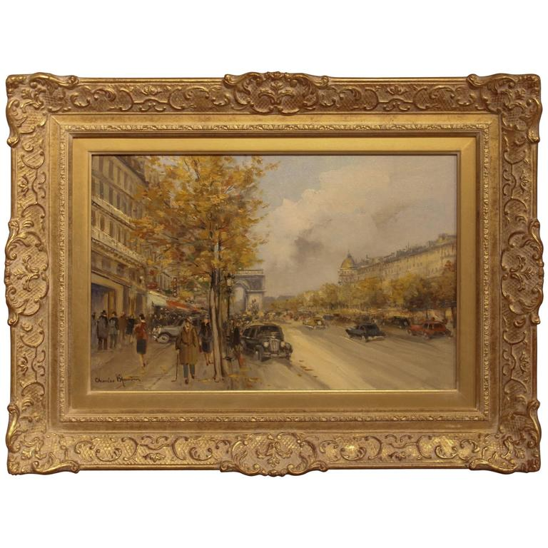 """Avenue Des Champs-Elysees"" Oil Painting by Charles Blondin"