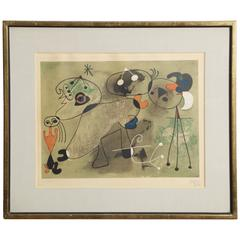 Etching and Aquatint 290/300, After Joan Miro, 1950