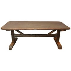 18th Century Single Plank Top Trestle Monastery Table