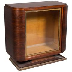 Art Deco Glass Door Cabinet
