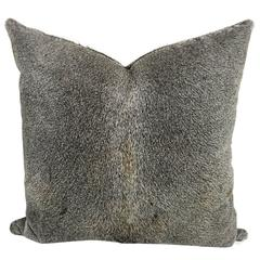 Double-Sided Salt and Pepper Cowhide Pillow