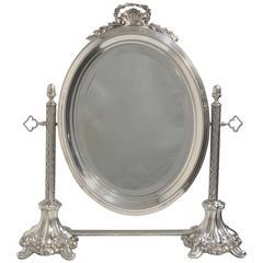 Silver Plate Vanity Mirror