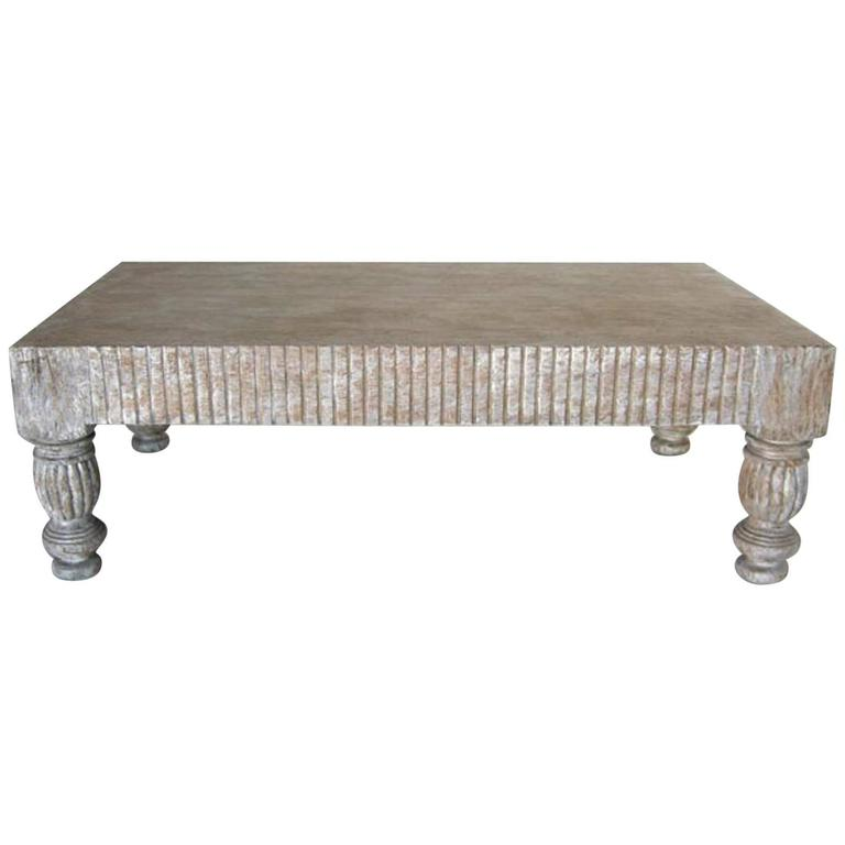 Custom coffee table in driftwood for sale at 1stdibs for Driftwood tables handmade
