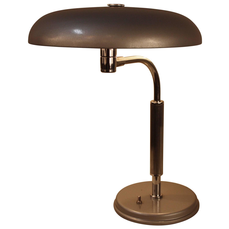 mid century flying saucer desk lamp at 1stdibs. Black Bedroom Furniture Sets. Home Design Ideas