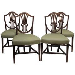 English Sheraton Mahogany Dining Chairs