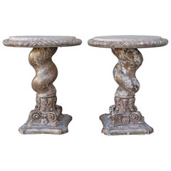 Pair of Italian Twisted Column Tables