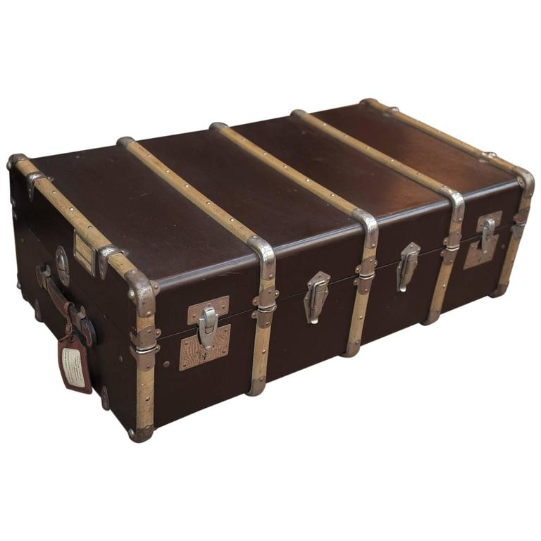 Vintage French Traveling Suitecase Trunk Luggage At 1stdibs