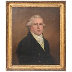 19th Century Portrait of a Gentleman, Possibly Statesman, Original Frame