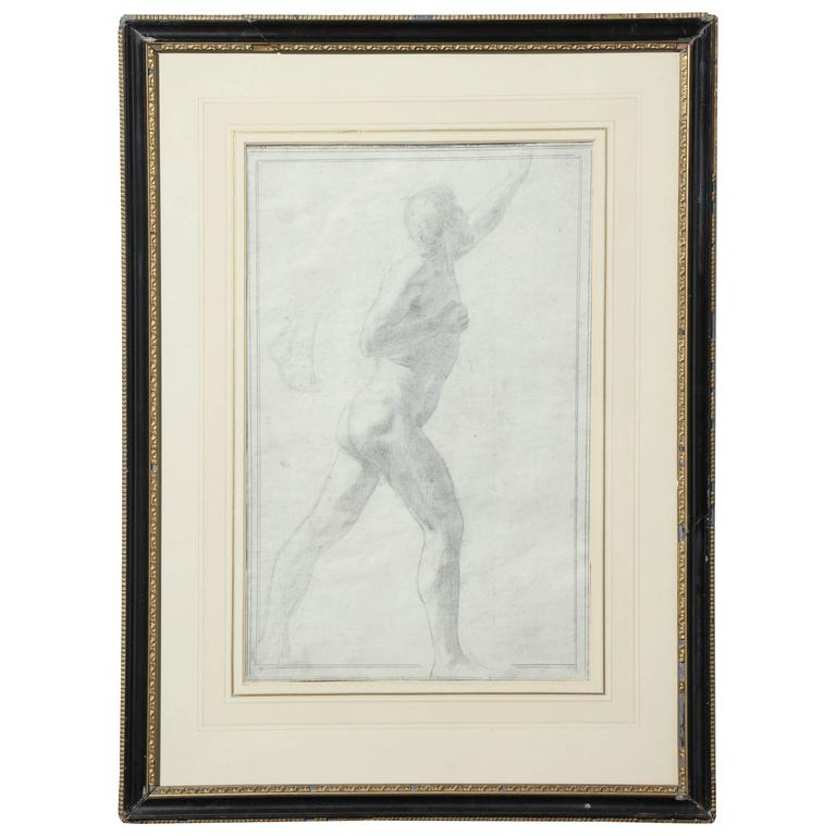 Drawing of a Male Nude by Alfred Elmore
