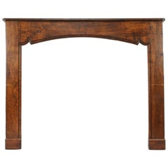 Large 18th Century Walnut Mantle from Provence