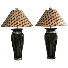 Handsome Pair of Vintage Chapman Table Lamps