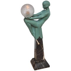 Art Deco Lamp of a Figural-Female
