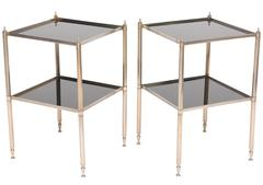 Pair of Two-Tiered Side Tables in the Style of Maison Jansen, France, 1940s