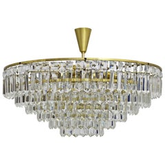 Mid Century Modern Crystal Glass Vintage Chandelier by Bakalowits 1960s Austria