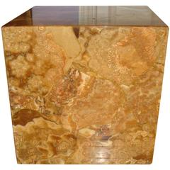 Agate Resin Cube Table