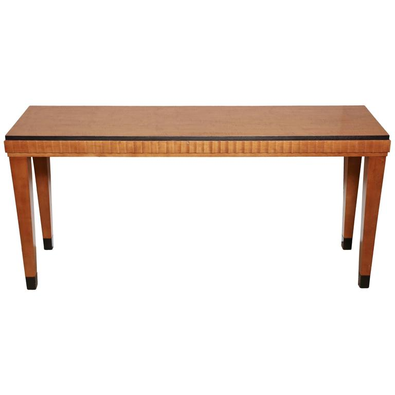 Art Deco Sofa Table For Sale at 1stdibs