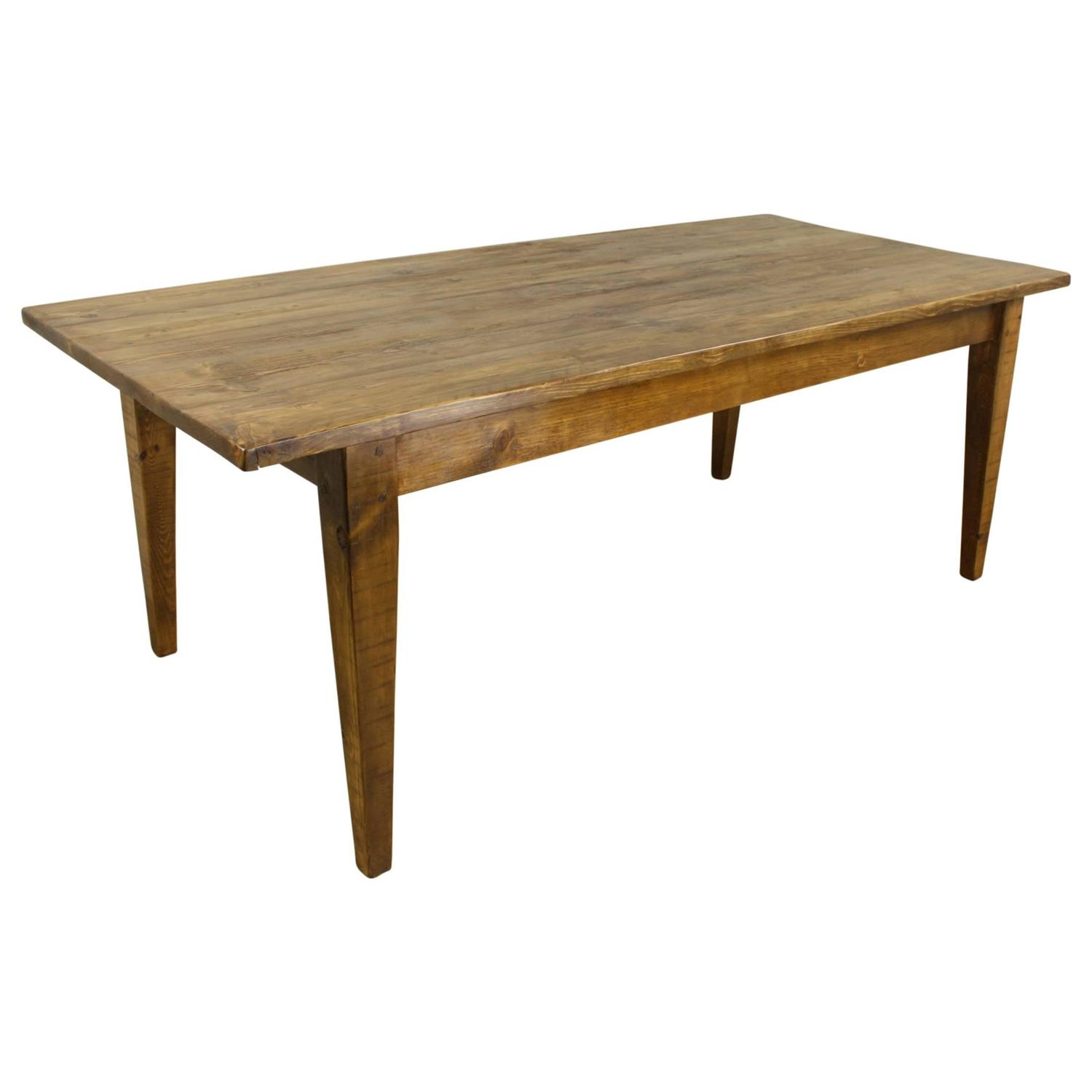 Light pine farm table at 1stdibs for Pine dining room table
