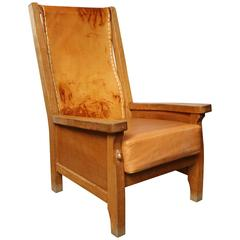 "Vintage Robert ""Mouseman"" Thompson Chair"