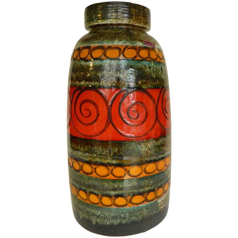 Large German Floor Vase By Scheurich For