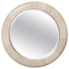 Shagreen Mirror from Baker by Bill Sofield