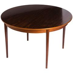 Gustav Bahus Rosewood Dining Table With 2 Leaves