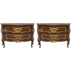 Pair of Italian Bombay Chests
