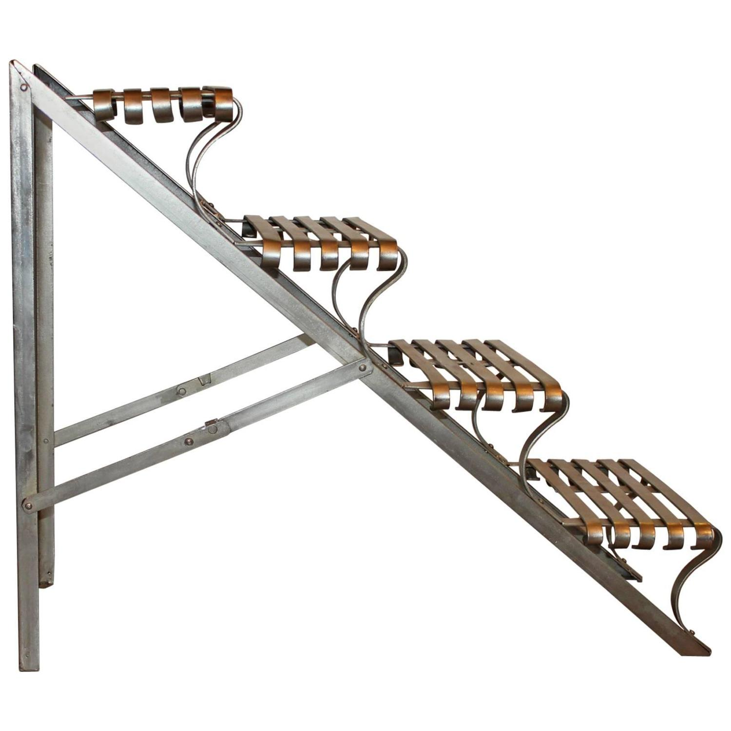 Industrial Folding Steel Library Stairs At 1stdibs