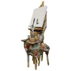 Unusual Funky Sculpture Signed RIA