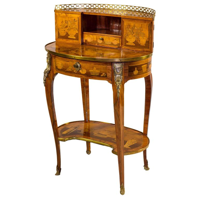 exceptional bonheur du jour desk by topino at 1stdibs. Black Bedroom Furniture Sets. Home Design Ideas