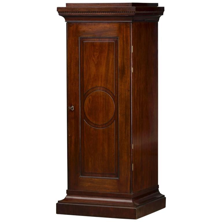 Danish Louis XVI Pedestal Storage Cabinet