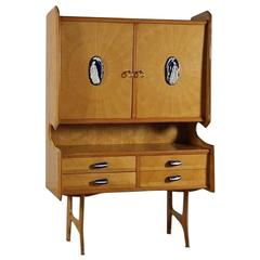 Italian Sideboard, Credenza in the Style of Ico Parisi, Italian Vintage 1950s