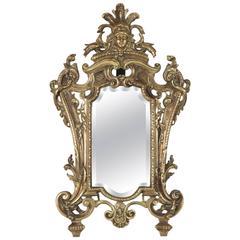 Important Vanity Mirror in Bronze Patine