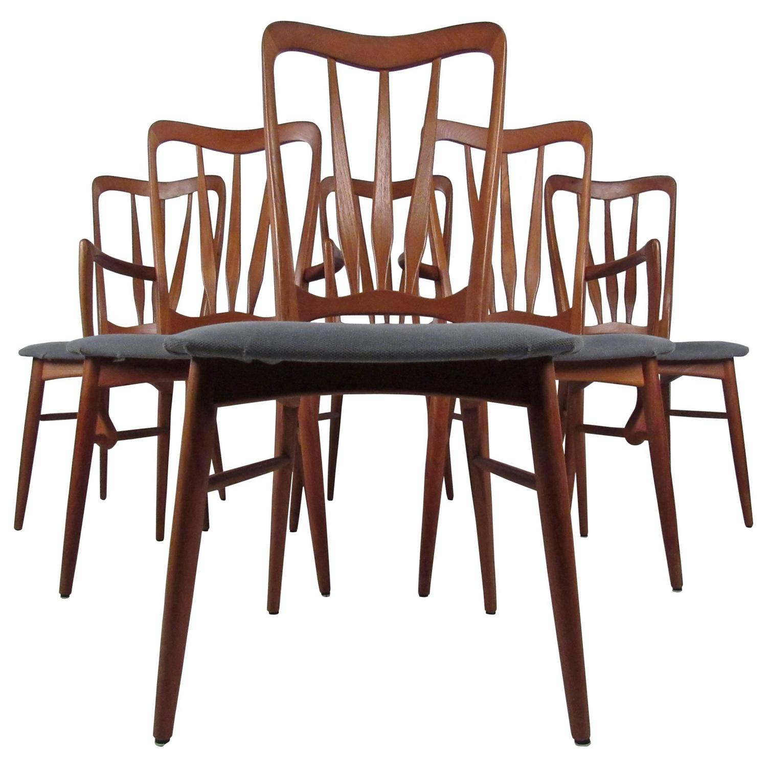 danish modern teak dining chairs for sale at 1stdibs