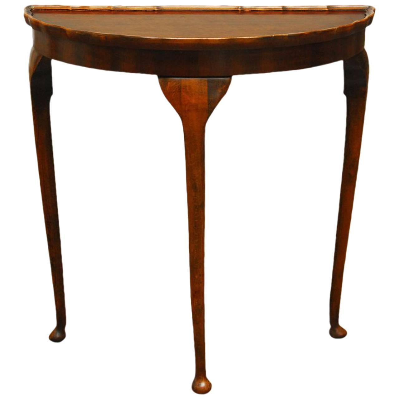 english george ii mahogany demilune table at 1stdibs. Black Bedroom Furniture Sets. Home Design Ideas
