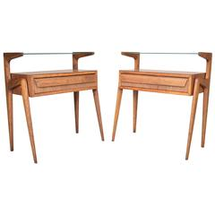 Two-Tier End Tables by Barovero Torino in the Manner of Carlo de Carli