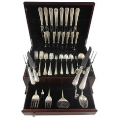 French Colonial by Blackinton Sterling Silver Flatware Set 8 Service 66 Pieces