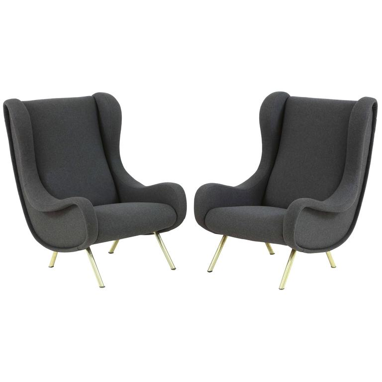 Pair of Armchairs Model 'Senior' by Marco Zanuso