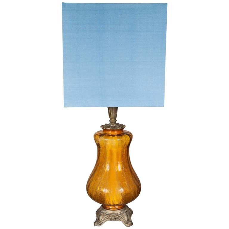 Amber Glass Table Lamp Base Best Inspiration For Table Lamp