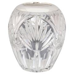 Art Deco Sterling Silver-Mounted Cut Crystal Vase