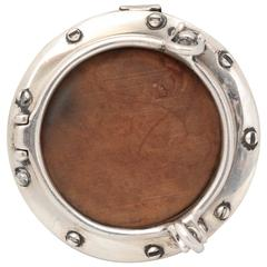 "Unusual Mid-Century Tiffany Sterling Silver ""Porthole"" Picture Frame"