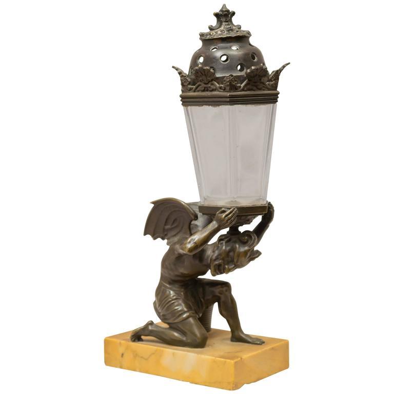 unique bronze devil incense burner at 1stdibs