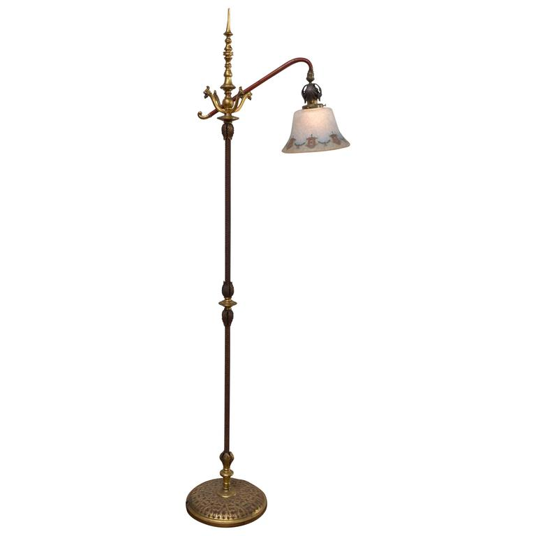 this bronze floor lamp with etched glass shade by bellova is no longer. Black Bedroom Furniture Sets. Home Design Ideas