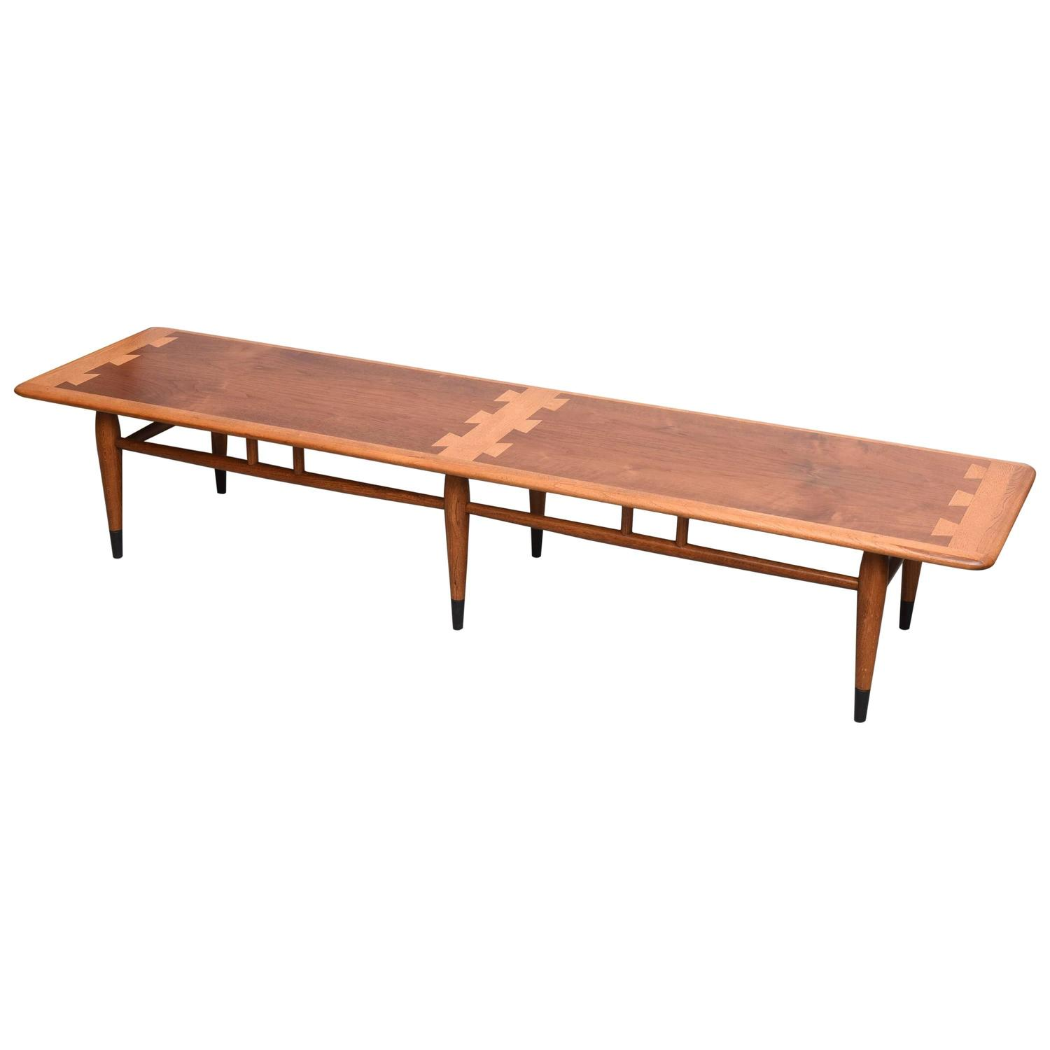 "Lane ""Dovetail"" Inlaid Coffee Table For Sale at 1stdibs"