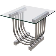 Donald Deskey Chrome Side Table, 1960s, USA