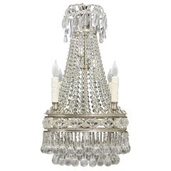French Antique Crystal Chandelier
