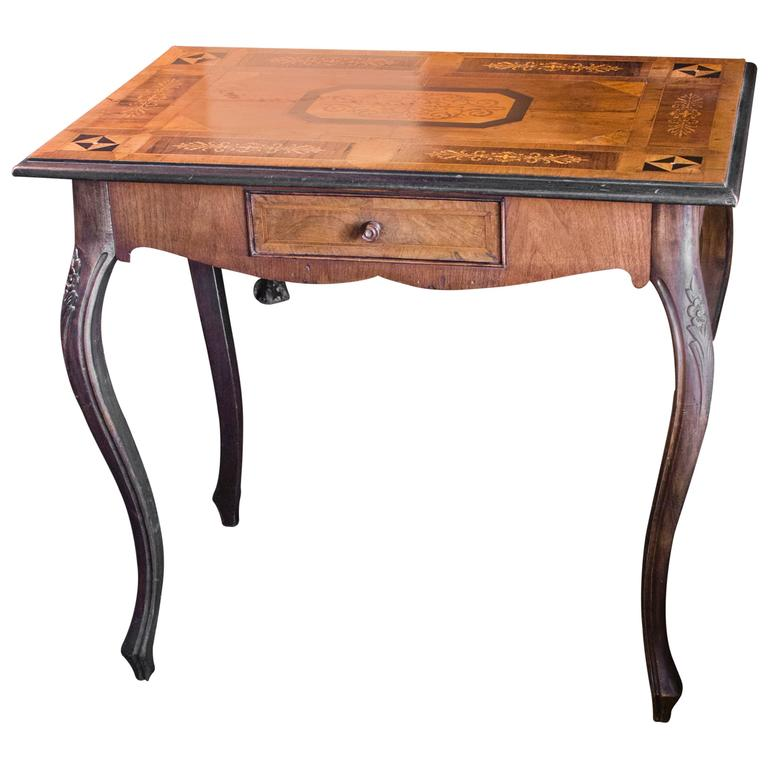Dutch Walnut Marquetry Table 1