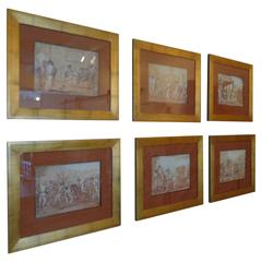 Punchinello Prints of Drawings by Domenico Tiepolo