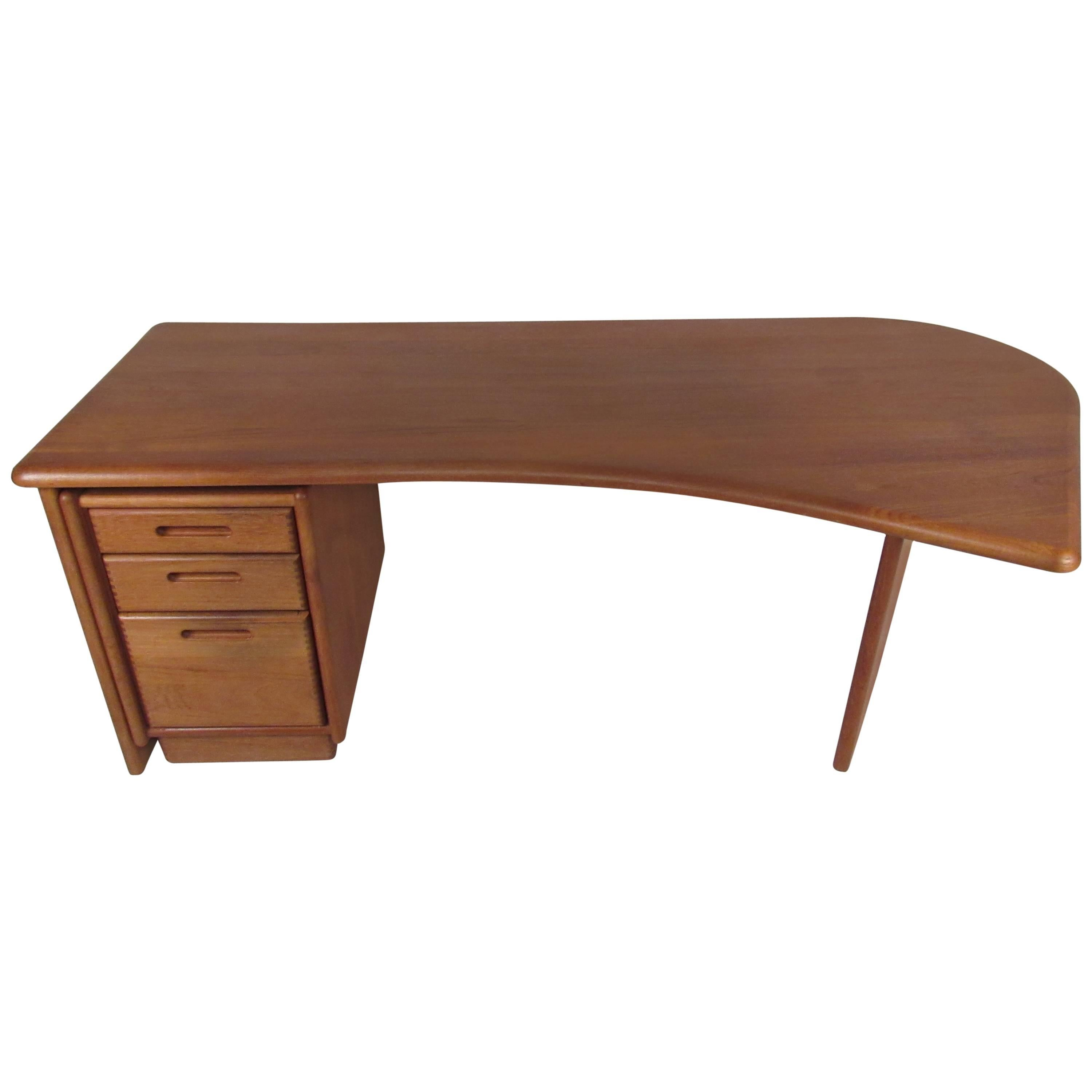 Impressive Danish Modern Executive Desk